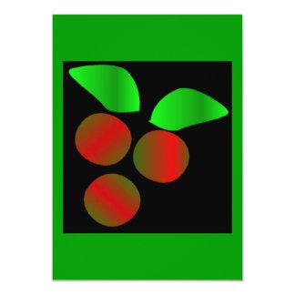 クリスマス|ヒイラギ|I 12.7 X 17.8 インビテーションカード
