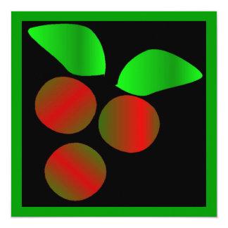 クリスマス|ヒイラギ|I 13.3 スクエアインビテーションカード