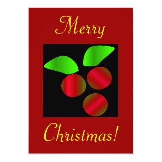 クリスマス|ヒイラギ|II 12.7 X 17.8 インビテーションカード