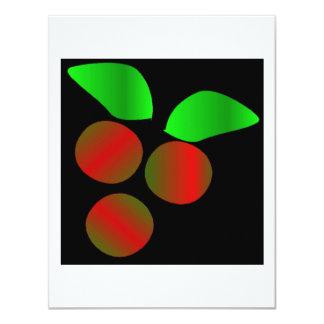 クリスマス|ヒイラギ|III 10.8 X 14 インビテーションカード