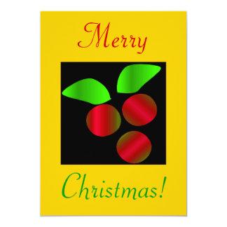 クリスマス|ヒイラギ|III 12.7 X 17.8 インビテーションカード