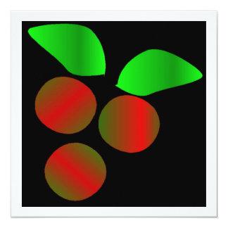 クリスマス ヒイラギ III 13.3 スクエアインビテーションカード