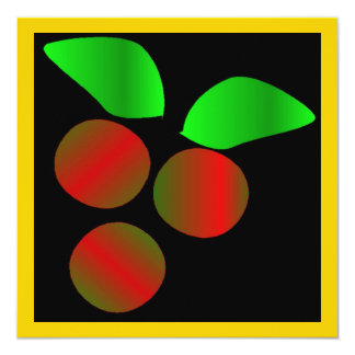クリスマス|ヒイラギ|IV 13.3 スクエアインビテーションカード