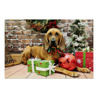 クリスマス-ブラッドハウンド- Penney ポスター