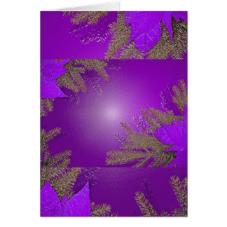 クリスマス ポインセチア 紫色 カード