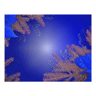 クリスマス ポインセチア 青い