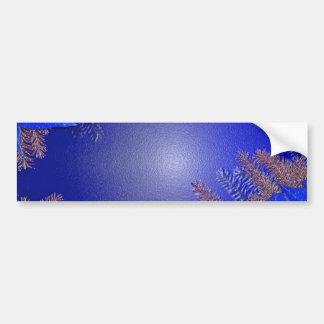 クリスマス ポインセチア 青い バンパーステッカー