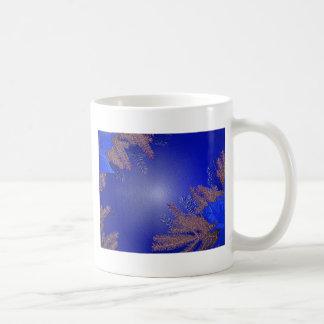 クリスマス ポインセチア 青い ベーシックホワイトマグカップ