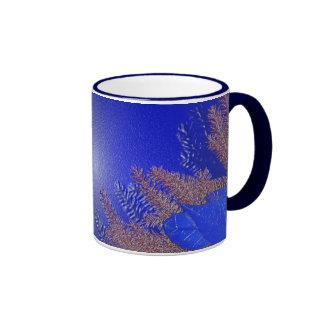 クリスマス|ポインセチア|青い|I コーヒーマグ
