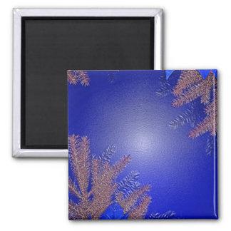 クリスマス ポインセチア 青い I 磁石