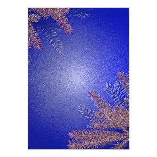 クリスマス|ポインセチア|青い|I 12.7 X 17.8 インビテーションカード