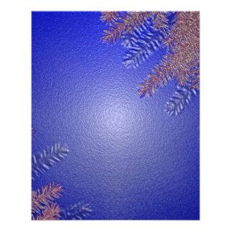 クリスマス ポインセチア 青い II チラシ