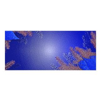 クリスマス|ポインセチア|青い|II 10.2 X 23.5 インビテーションカード