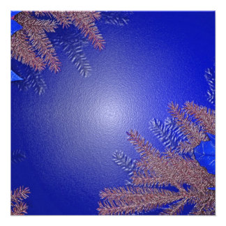 クリスマス ポインセチア 青い III