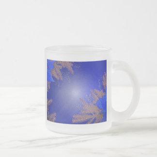 クリスマス|ポインセチア|青い|VI コーヒーマグカップ