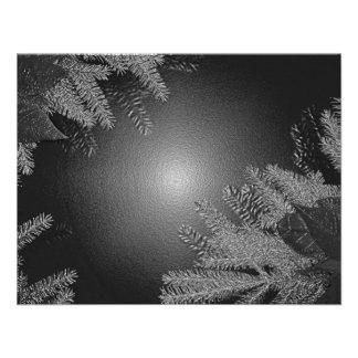 クリスマス ポインセチア 黒 灰色