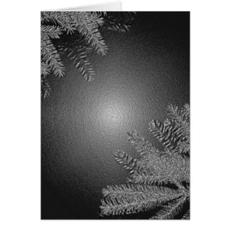 クリスマス ポインセチア 黒 灰色 グリーティングカード