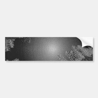 クリスマス ポインセチア 黒 灰色 バンパーステッカー