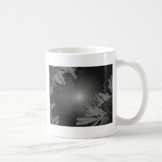 クリスマス ポインセチア 黒 灰色 ベーシックホワイトマグカップ