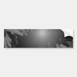 クリスマス ポインセチア 黒 灰色 I バンパーステッカー