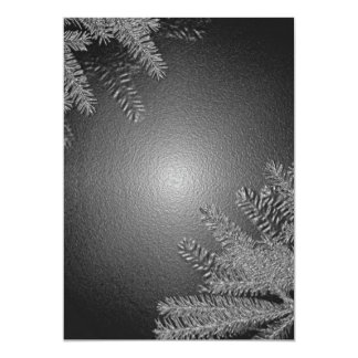 クリスマス|ポインセチア|黒|灰色|I 12.7 X 17.8 インビテーションカード