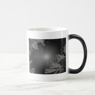 クリスマス ポインセチア 黒 灰色 III モーフィングマグカップ