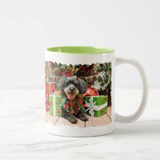 クリスマス-マルチーズX - Zoey ツートーンマグカップ