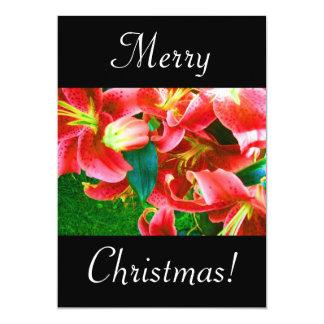 クリスマス|ユリ 12.7 X 17.8 インビテーションカード