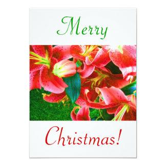 クリスマス|ユリ|IV 12.7 X 17.8 インビテーションカード