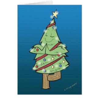 クリスマス-ヨガの木の姿勢 カード
