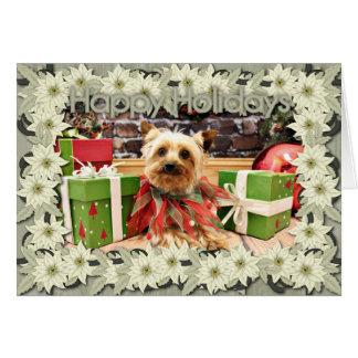 クリスマス-ヨークシャーテリア- Kensey カード