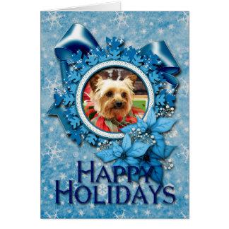 クリスマス-ヨークシャーテリア- Kinsey カード