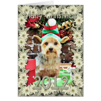 クリスマス-ヨークシャーテリア- Vinnie #32 カード