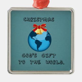 クリスマス; 世界への神のギフト メタルオーナメント
