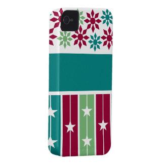 クリスマス/休日のブラックベリーのはっきりしたな場合、カスタム Case-Mate iPhone 4 ケース
