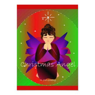 クリスマス|天使|赤ん坊|女の子|祈ること 12.7 X 17.8 インビテーションカード