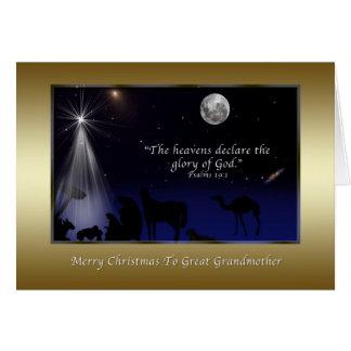 クリスマス、宗教曾祖母出生 グリーティングカード