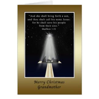 クリスマス、宗教祖母 グリーティングカード