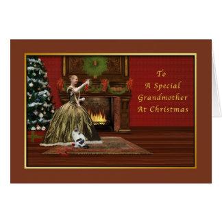 クリスマス、旧式祖母 グリーティングカード