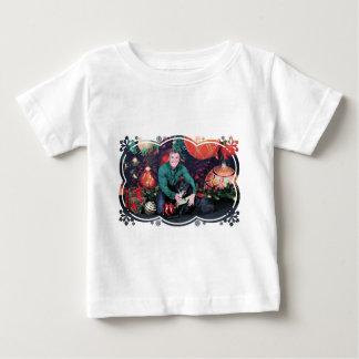 クリスマス-異端者-ボーダーコリーX ベビーTシャツ