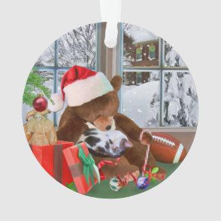 クリスマス、睡眠猫、テディー・ベア オーナメント