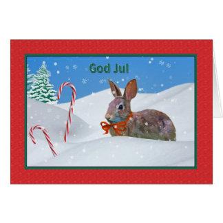 クリスマス、神ウサギ7月、ノルウェー語、雪、カード カード