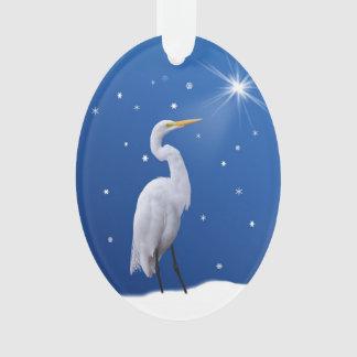クリスマス、素晴らしい白鷺の鳥、宗教星 オーナメント