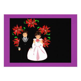 クリスマス 結婚 カップル リース 紫色