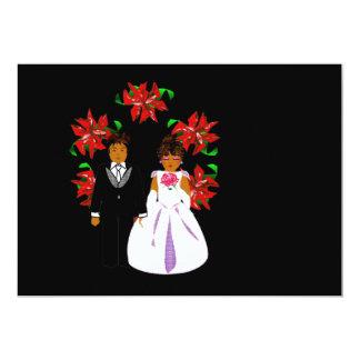クリスマス 結婚 カップル リース 12.7 X 17.8 インビテーションカード