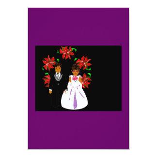 クリスマス|結婚|カップル|リース 12.7 X 17.8 インビテーションカード