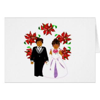 クリスマス 結婚 カップル II リース ノートカード