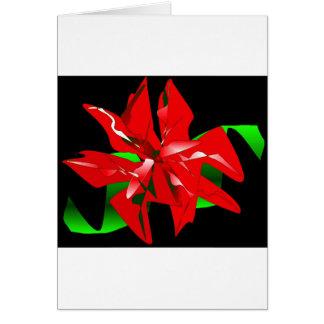 クリスマス 花 カスタマイズ可能 グリーティングカード