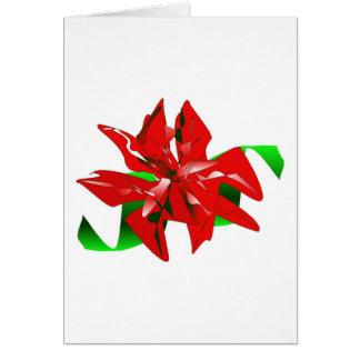 クリスマス 花 カード カスタマイズ可能 グリーティングカード