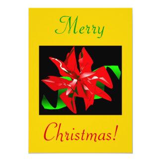 クリスマス|花|III 12.7 X 17.8 インビテーションカード